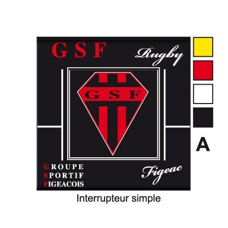Sticker Prise et Interrupteur électrique GSF Figeac
