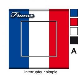 Sticker prise drapeau Français universel