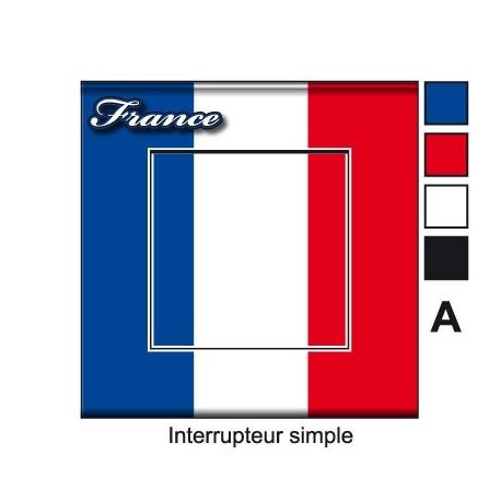 Sticker Prise et Interrupteur électrique drapeau Français