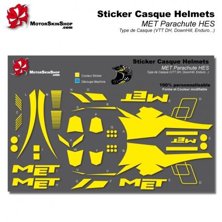 Sticker Casque MET Parachute Helmets