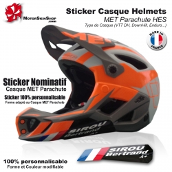 Sticker nominatif Casque MET Parachute VTT Nominatif