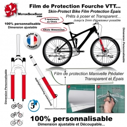Film de Protection Fourche Invisible Skin Protect Bike