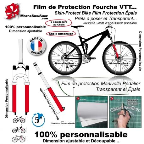 Film de Protection Fourche VTT vélo épais