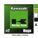 Sticker Prise et Interrupteur électrique Kawasaki moto