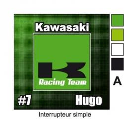 Sticker Prise et Interrupteur électrique Kawasaki