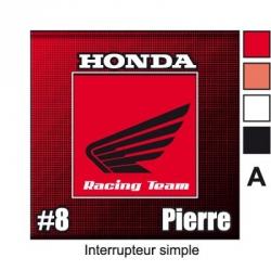 Sticker prise Honda décoration universel