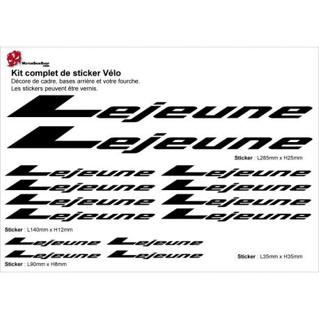Sticker cadre vélo Lejeune Vintage