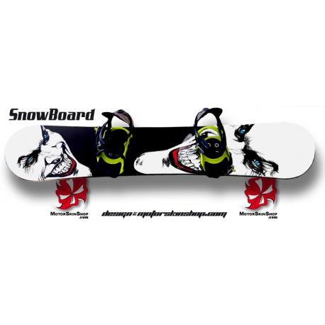 Sticker SnowBoard Jocker Personnalisable