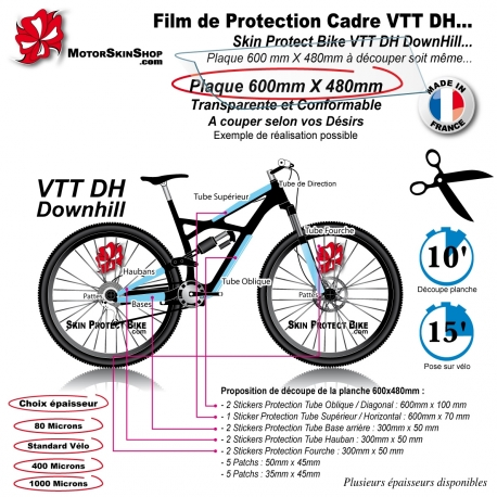 Film de Protection VTT DH Downhill Universel