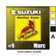 Sticker Prise et Interrupteur électrique Suzuki