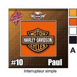 Sticker Prise et Interrupteur électrique Harley Davidson