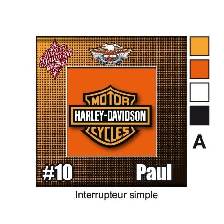 Sticker Prise et Interrupteur électrique Harley Davidsoni