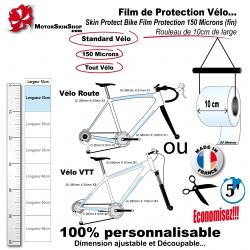 Film de Protection vélo unitaire 10cm de large bande économique