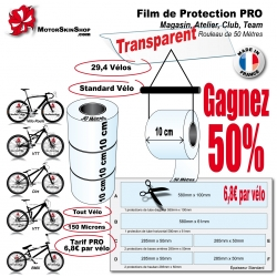 Rouleu Film de Protection PRO 10cm Vélo et Bike