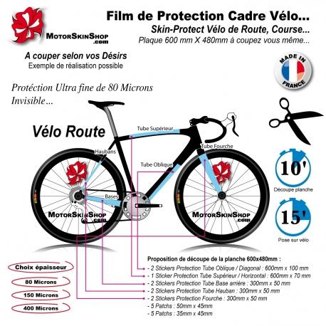 Film de Protection Cadre Vélo Route Invisible