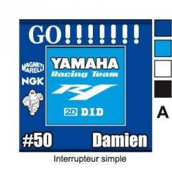 Sticker prise Yamaha sportive universel moto