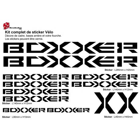 Sticker Boxxer cadre Vélo