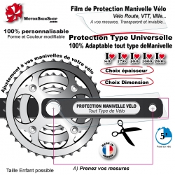 Film de Protection Manivelle Pédalier Invisible Universel