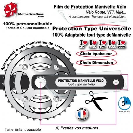 Film de Protection Manivelle Pédalier Invisible Universel