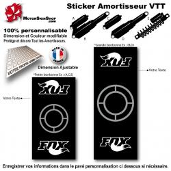 Sticker Amortisseur VTT FOX Noir Bonbonne