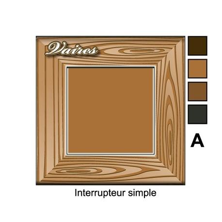 sticker prise cadre bois universel interrupteur