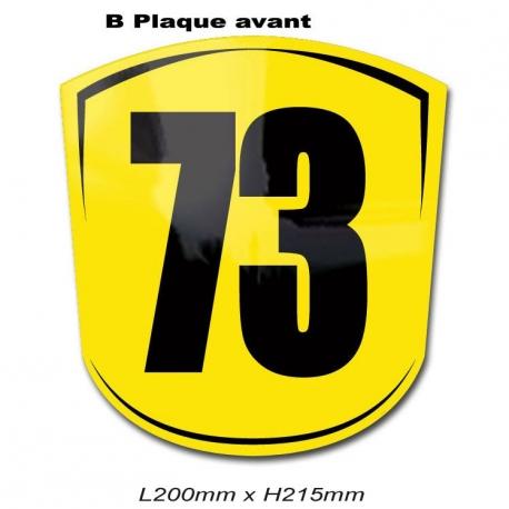 Plaque Numéro Avant Karting.