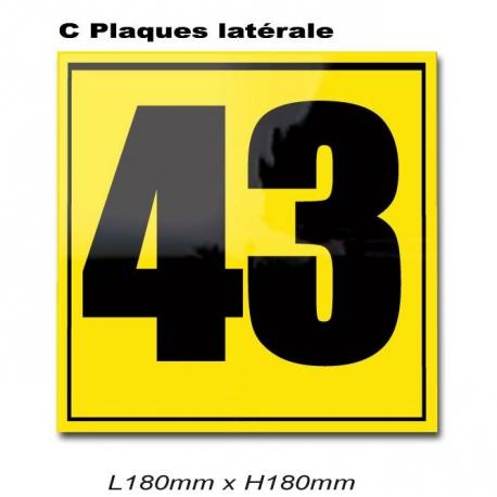 Plaque Numéro Latérale Karting.