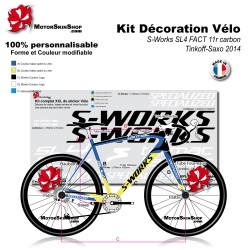Sticker cadre Saxo Tinkoff S Works SL4 2014 replica