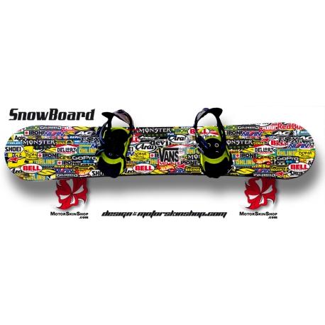 Sticker Patchwork SnowBoard